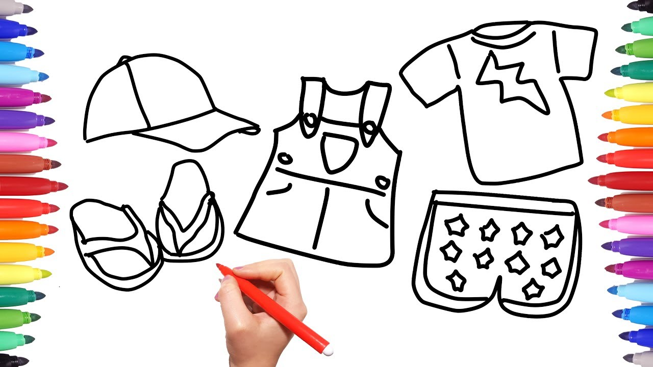 How To Draw Colour Summer Clothes For Girls