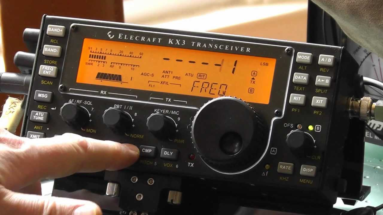 How to directly enter frequency in Elecraft KX3