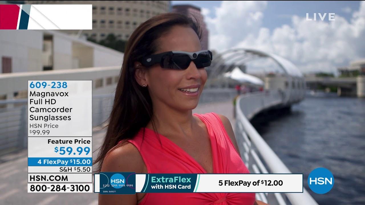 deaf6842b8d Magnavox Full HD Camcorder Sunglasses with 16GB microSD ... - YouTube