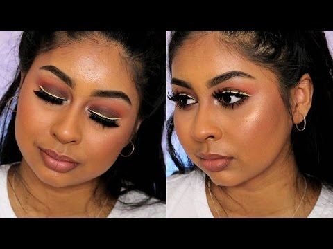 GREY Smokey Eye with Yellow/Black Liner Makeup Tutorial