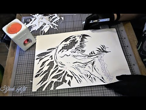 HOW TO MAKE STENCIL for SPRAY PAINT ART by Skech - YouTube