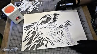 HOW TO MAKE STENCIL for SPRAY PAINT ART by Skech