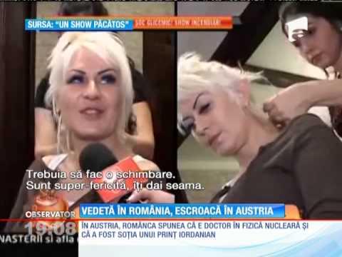 Vedetă în România, escroacă în Austria