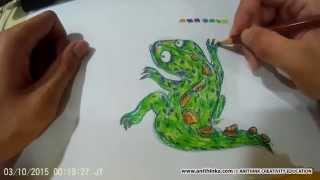 AIKIDRAW : How to draw an Iguana?