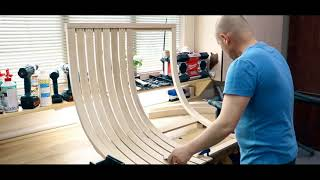 How to build a swing. Woodworking.