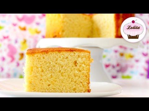 Receta de bizcocho de yogur esponjoso | Como hacer bizcocho de yogur | Bizcocho fácil y rápido