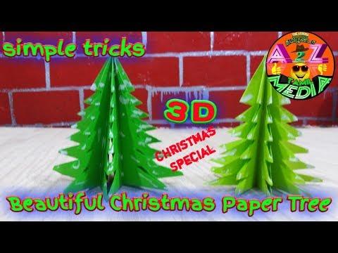 DIY Paper christmas Tree / paper craft tutorials