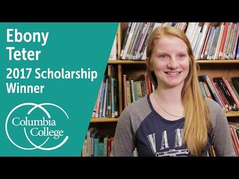 Ebony Teter - 2017 Scholarship Winner   Columbia College