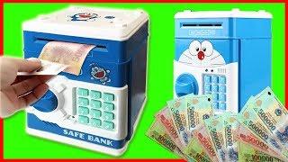 Đồ chơi trẻ em KÉT SẮT MINI hình ĐÔRÊMON tự động hút tiền đáng yêu cho bé Toys for Kids (Chim Xinh)
