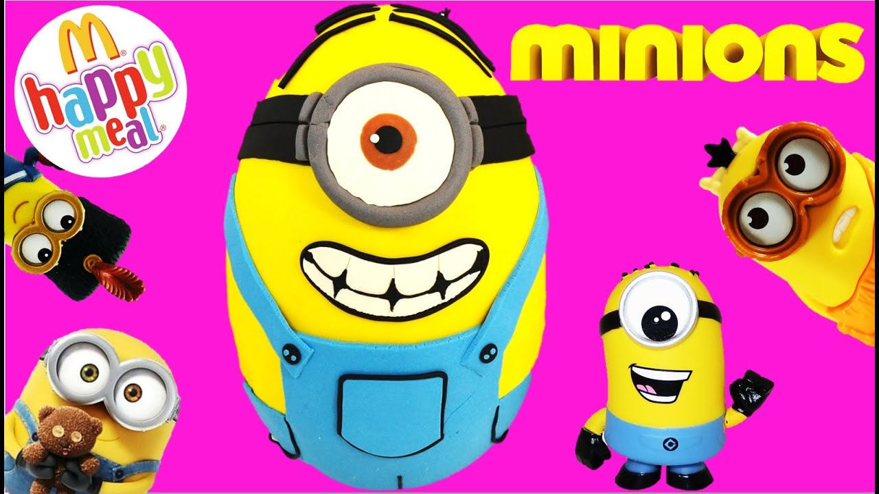 minions movie giant play doh surprise egg mcdonalds happy minions movie giant play doh surprise egg mcdonalds happy meal toys inside setc