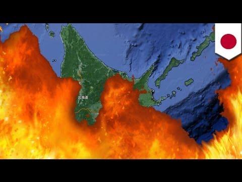 北海道が沖縄より気温が高い。