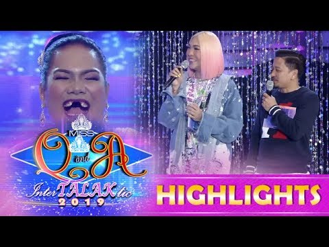 It's Showtime Miss Q & A: Vice and Jhong is fond of Dhar Lhea 1/4 Cordez' kinds of laughter