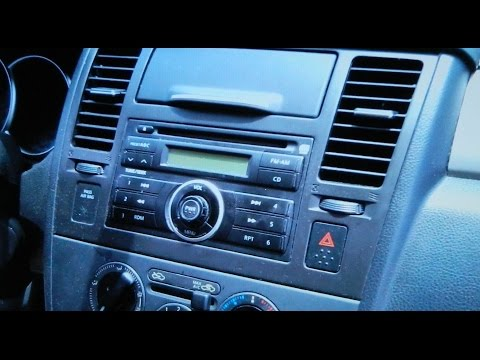 How to Replace Car Stereo, Nissan Versa, Remove and Install