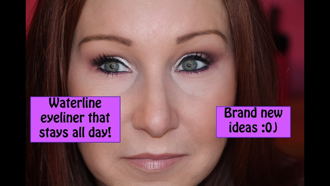 How to Make Waterline Eyeliner Stay! - YouTube