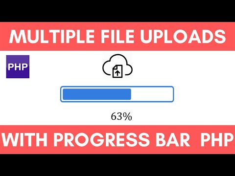 Multiple file uploads with progress bar ajax jquery php thumbnail