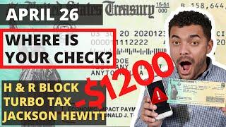 Stimulus Check UPDATE: H&R Block, TurboTax, Jackson Hewitt, IRS | Where Is My CHECK?