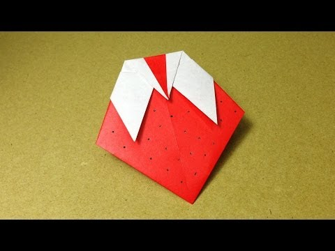 How to Make a Paper Fruit / Origami Strawberry / Easy for Children