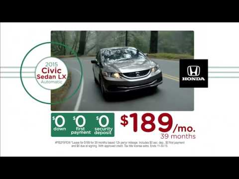 civic accord odyssey lease with 0 due at signing youtube. Black Bedroom Furniture Sets. Home Design Ideas
