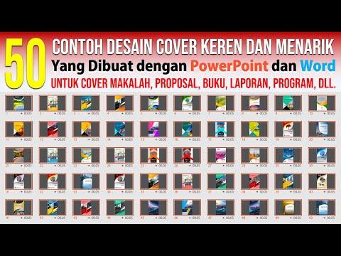 50 Contoh Cover yang Keren dan Menarik dengan PowerPoint dan Word