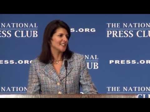 Governor Nikki Haley speaks at the National Press Club
