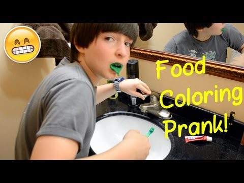 Add Red Food Coloring To Their is listed (or ranked) 2 on the list Hilarious Pranks To Pull On Your Siblings