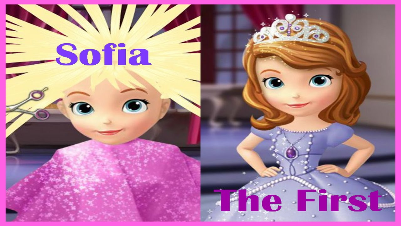 Disney Princess Movie Games Sofia The First Hair Salon Gameplay