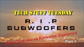 The truth about Rockville Audio K9 subwoofers, Part 1 - Tech Stuff Tuesday