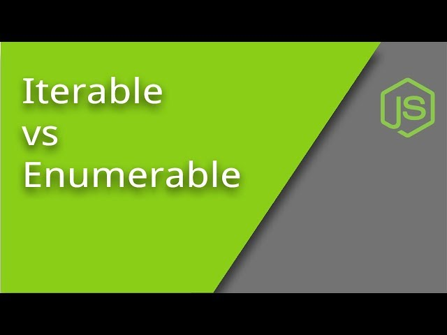 Iterable vs Enumerable in JavaScript