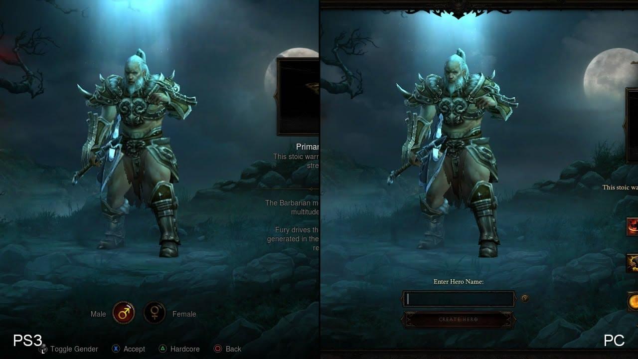 Diablo 3: PlayStation 3 vs. PC comparison - YouTube
