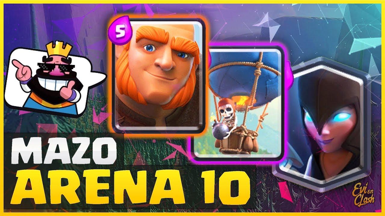Combo Letal Con Gigante Globo Y Bruja Nocturna Para Subir En Arena 10 Clash Royale Español Youtube