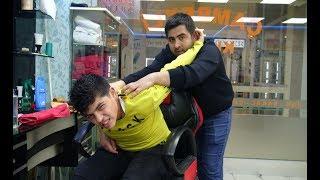 ASMR =TURKISH MASSAGE BARBER =TOKSEN= head , face , arm , back , body massage=UYKU MASAJ'I= relaxing