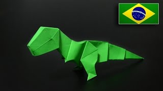 Origami: T-Rex (Jo Nakashima) - Instruções em Português PT-BR