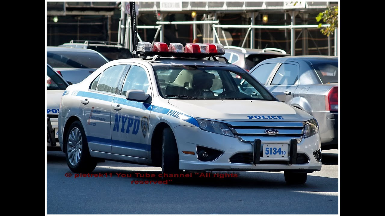 nypd responding police car new ford fusion 2014 hd youtube. Black Bedroom Furniture Sets. Home Design Ideas