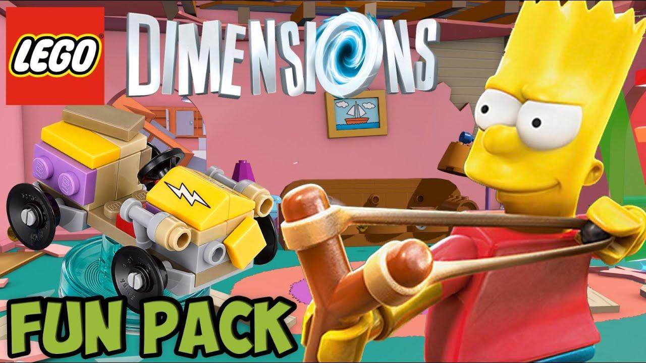 Lego Dimensions Bart Simpsons Fun Pack Free Roam Unboxing