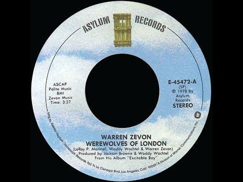 Warren Zevon ~ Werewolves Of London 1978 Rock Purrfection Version