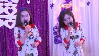 2 ca sĩ tí hon nhất VN Thanh Hằng & Thanh Hà cực hót trong tiệc cưới ở Hà Nội