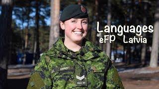 Languages at eFP Latvia