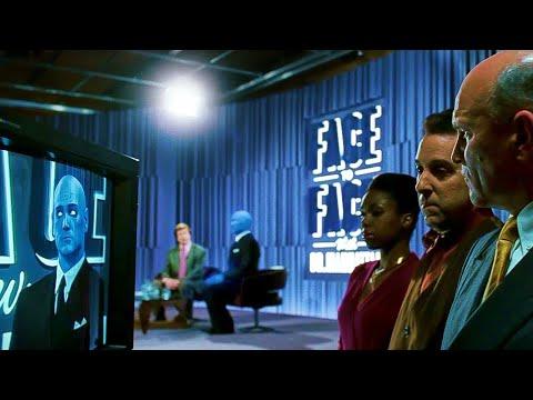 "Watchmen 2009 Dr Manhattan screams ""Leave Me Alone!"" (Dr Manhattan TV Interview Scene)"