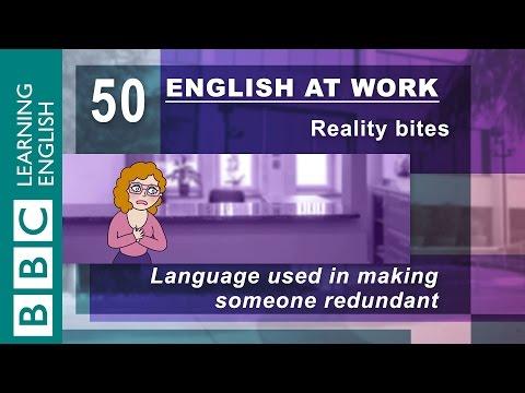 Making someone redundant - 50 - English at work has to give someone the sack