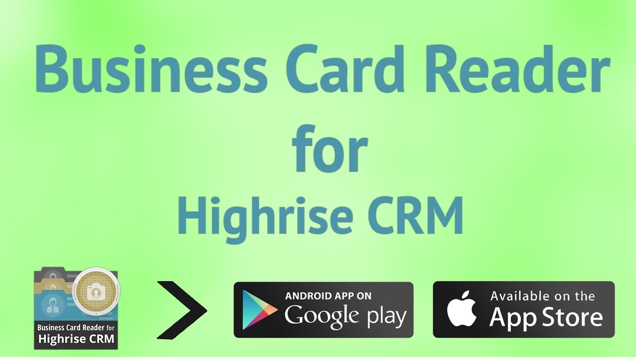 Business card reader for highrise crm youtube reheart Images