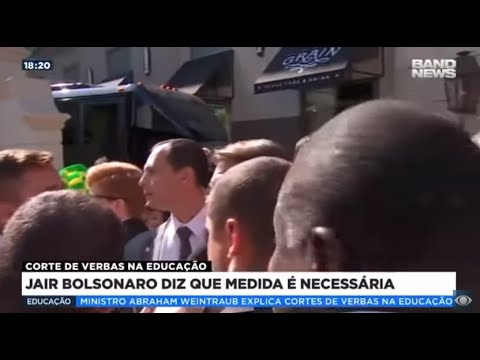 Bolsonaro diz que corte de verbas na educação é necessário