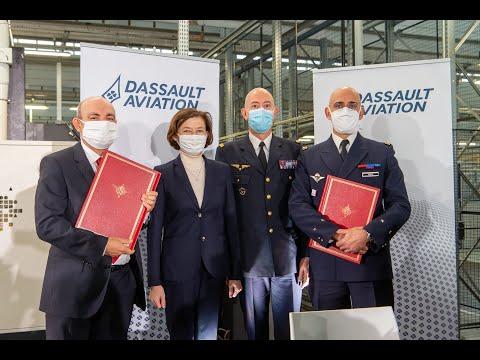 Visite de Florence Parly à Argonay - Dassault Aviation