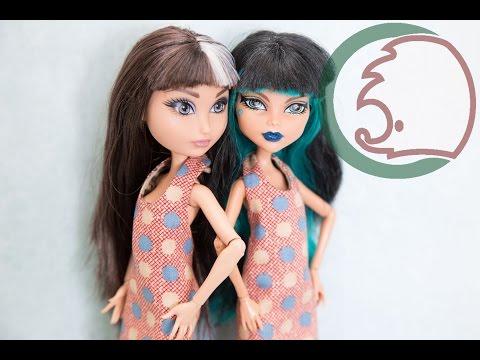Видео Выкройка платья для куклы