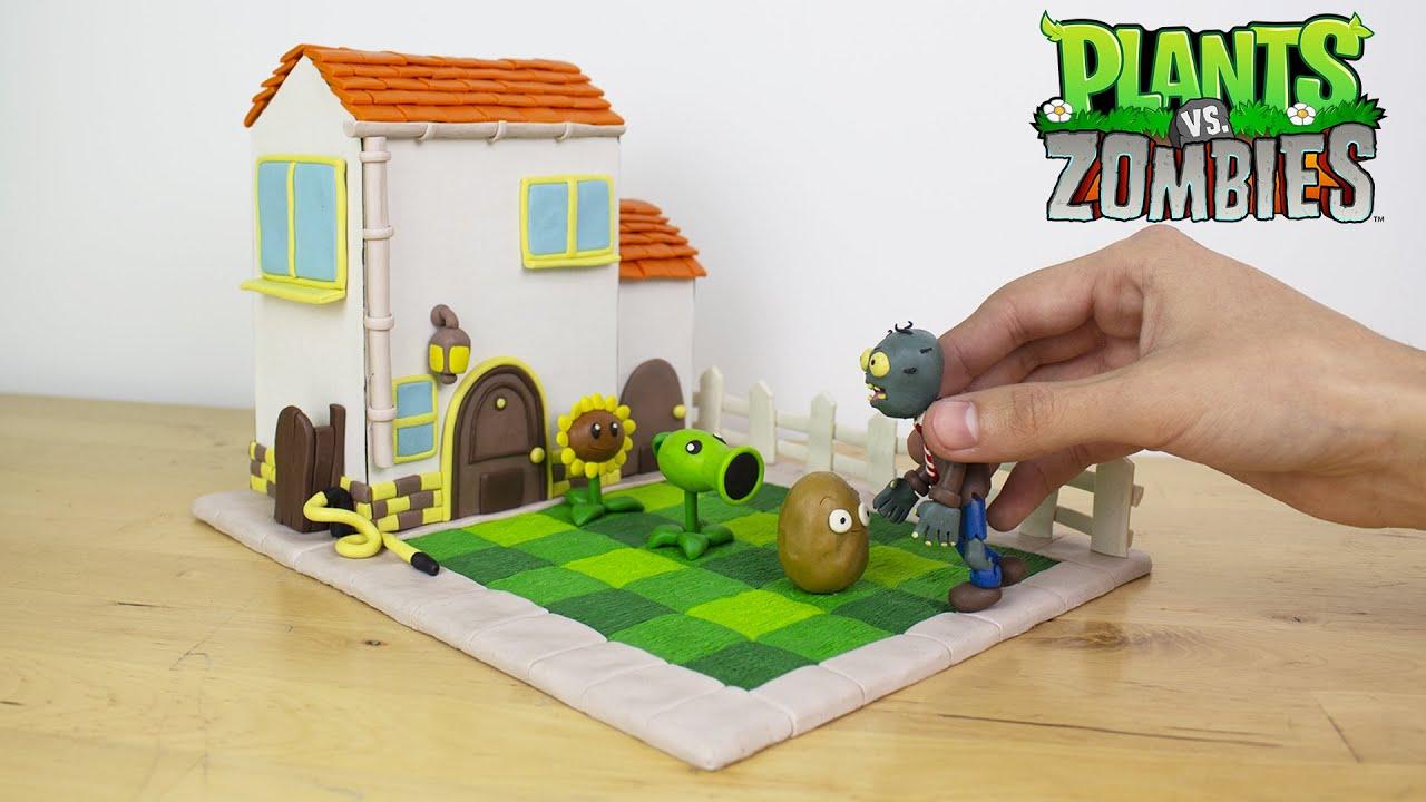 Como Hacer Casa De Dave Plants Vs Zombies De Plastilina Youtube