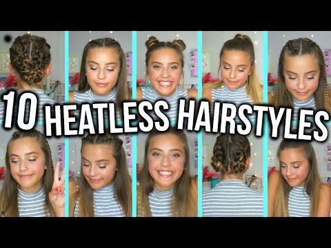 10 HEATLESS BACK TO SCHOOL HAIRSTYLES | Oliviagrace