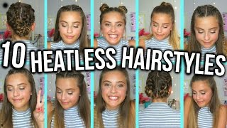 One of Olivia Grace's most viewed videos: 10 HEATLESS BACK TO SCHOOL HAIRSTYLES | Oliviagrace