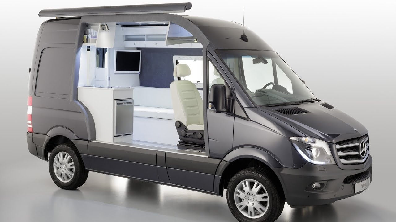 Mercedes benz sprinter camper concept youtube for Sprinter wohnmobilausbau