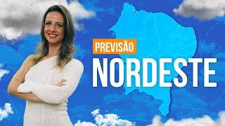 Previsão Nordeste - chuva mais persistente entre leste da Bahia e Sergipe