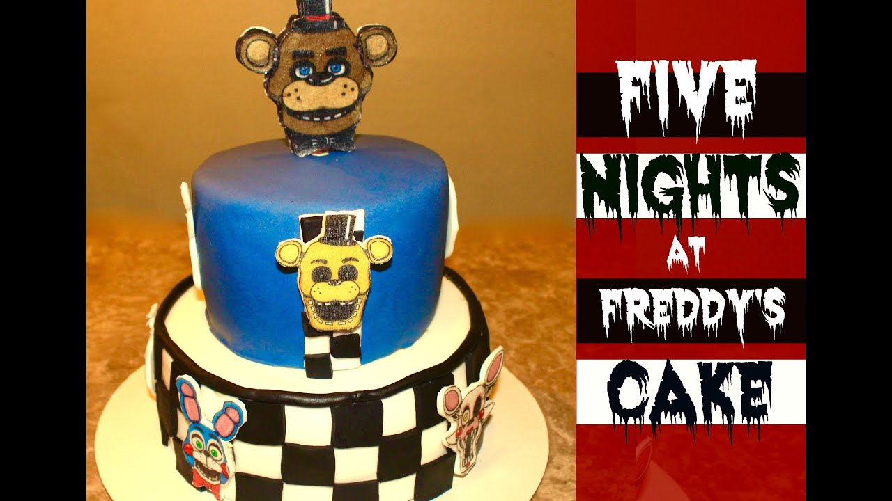 How To Make A Five Nights At Freddys Cake Youtube
