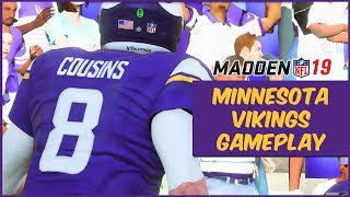 Madden 19 | Vikings Vs. Dolphins Gameplay! First Look At Kirk Cousins In Madden 19